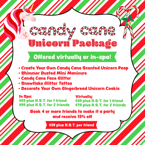 Candy Cane Unicorn Package