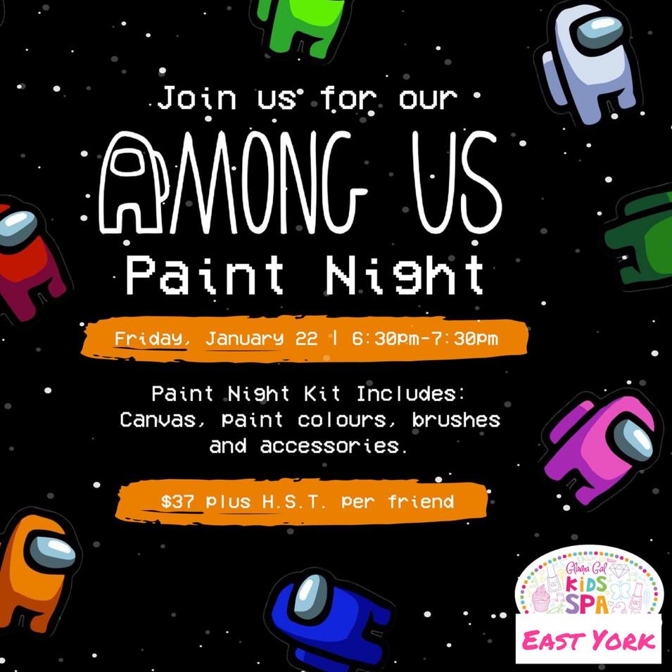 Among Us Paint Night