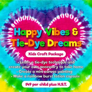 GG  Happy Vibes & Tie-Dye Dreams Kids Cr
