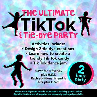 GG The Ultimate Tik Tok & Tie-Dye Party-