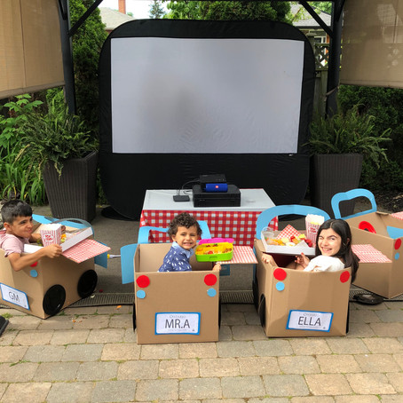 Create your own DRIVE IN MOVIE BOX for Kids with FREE LICENSE PLATE TEMPLATE