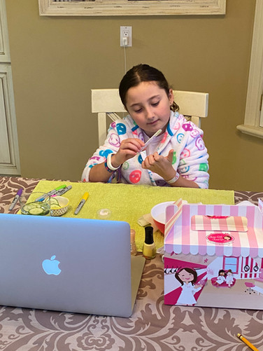 Ella's Virtual Spa Party