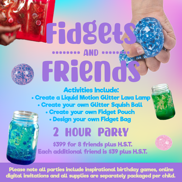 FIDGETS & FRIENDS PARTY PACKAGE