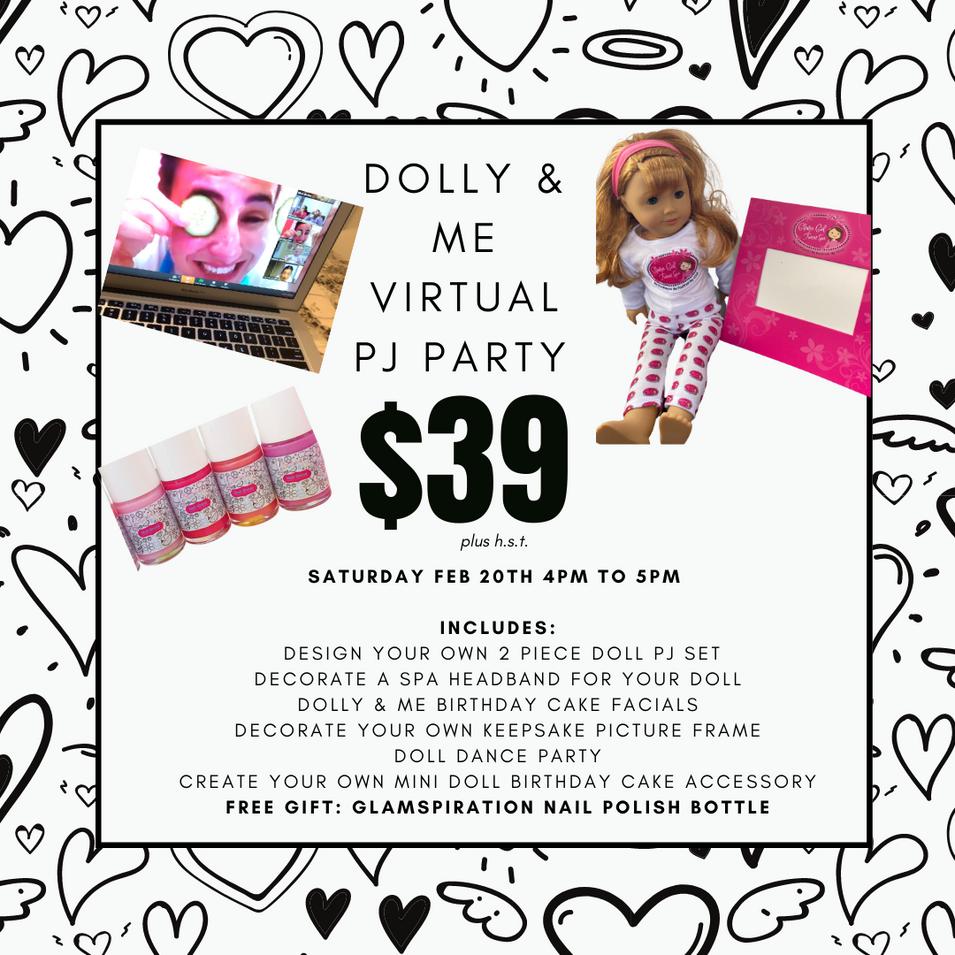 Dolly & Me Virtual PJ Party
