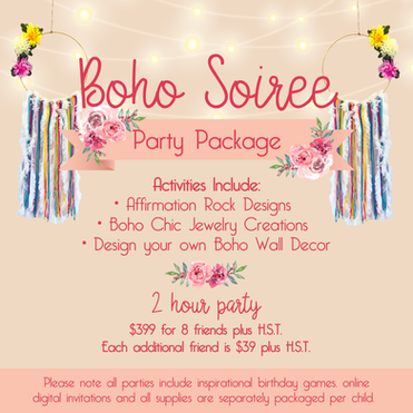BOHO SOIREE PARTY PACKAGE