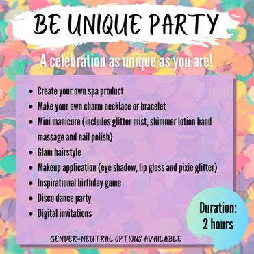 BE UNIQUE PARTY