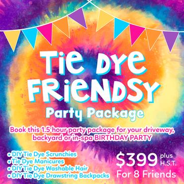 TIE DYE FRIENDSY PARTY PACKAGE