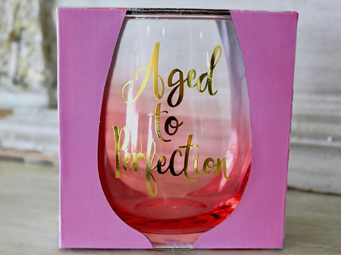 Aged To Perfection Stemless Wineglass