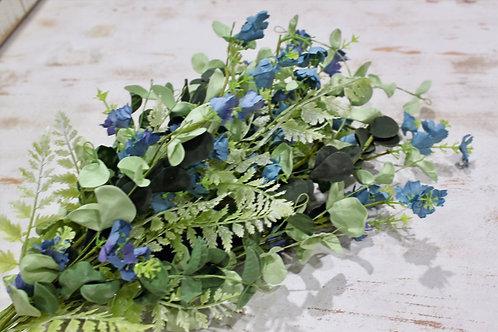 """34"""" Blue, Green Floral Stem"""