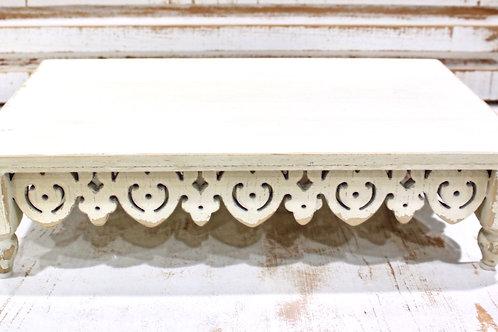 Distressed White Ornate Riser Sm