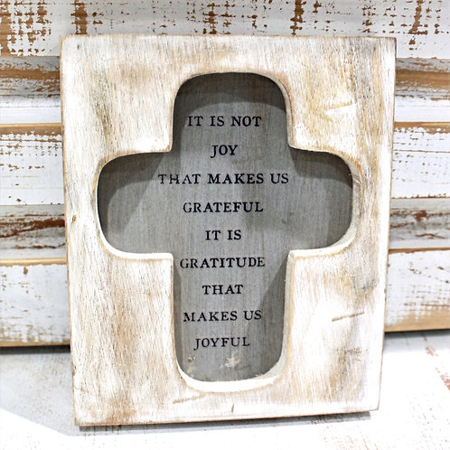 Gratitude Cross Plaque
