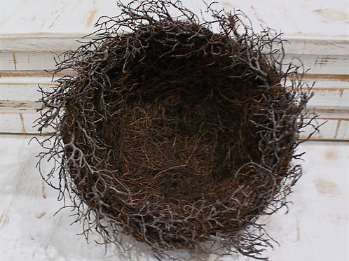 Brown Twig Bird Nest Large