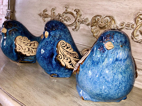 Ceramic Scrolled Birds Set of 3