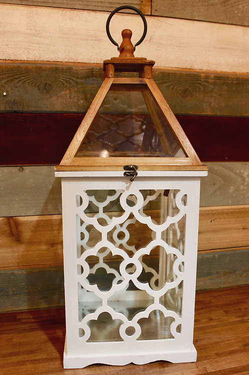 Lantern With White Lattice Large