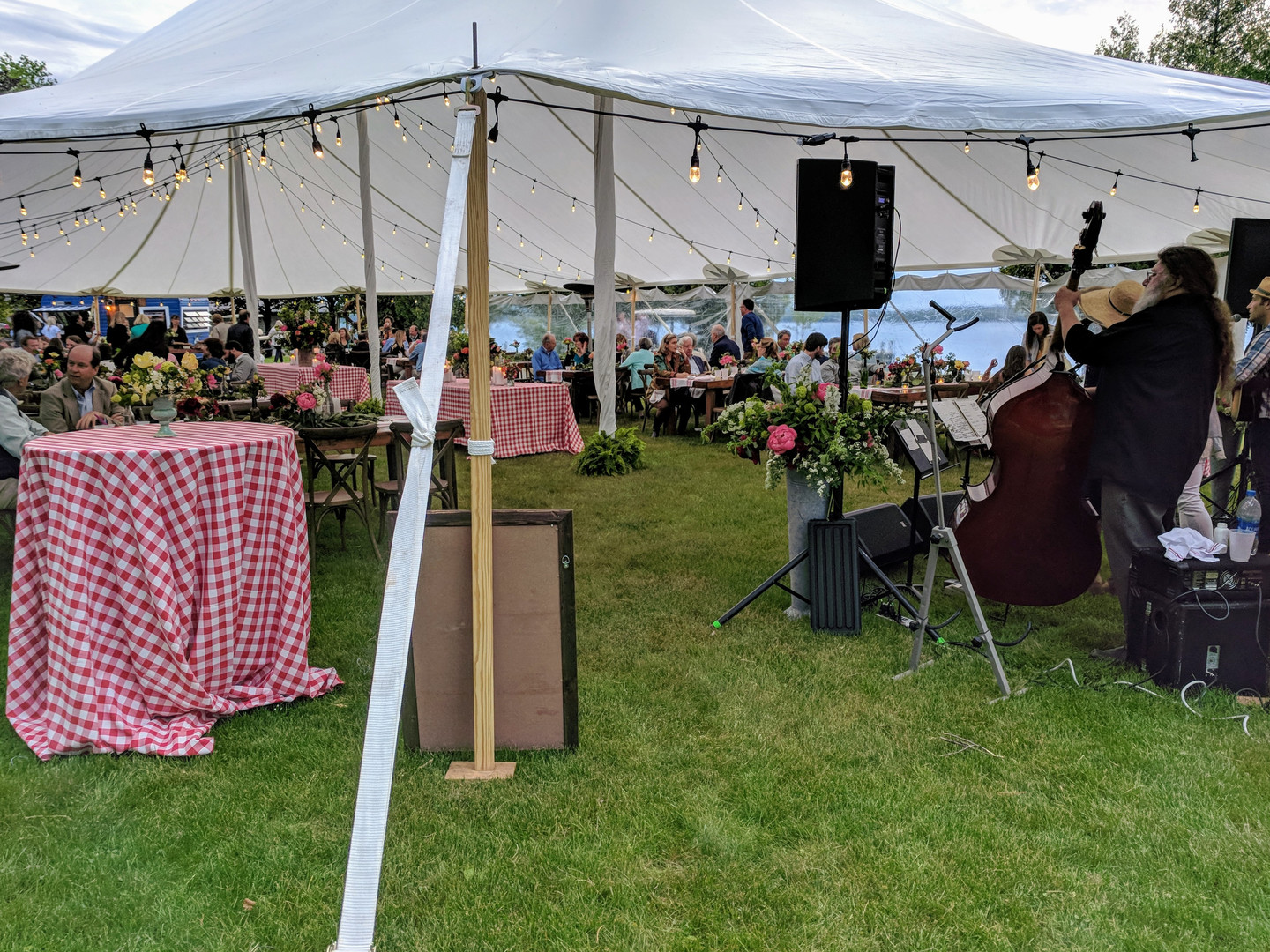 Wedding reception band sound for Kevin Gills, Rachael Davis, Joshua Davis and May Erlewine at Northport Point