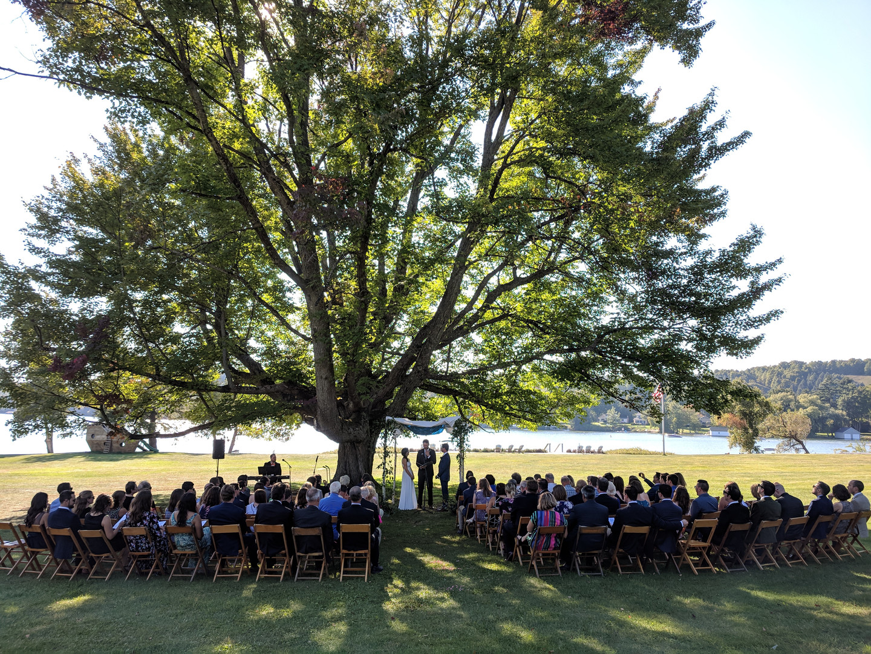 Wedding ceremony sound at Fountain Point Resort