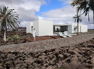 Imagen de Villa autosificiente con placas solares en venta de nueva construcción en Lajares, Fuerteventura, en venta en nuestra inmobiliaria de Corralejo.