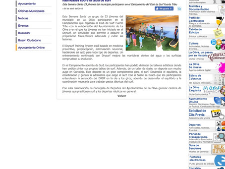 Noticias, Ayuntamiento de la OLIVA