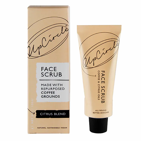 UpCircle Coffee Face Scrub - Citrus Blend for Dry Skin