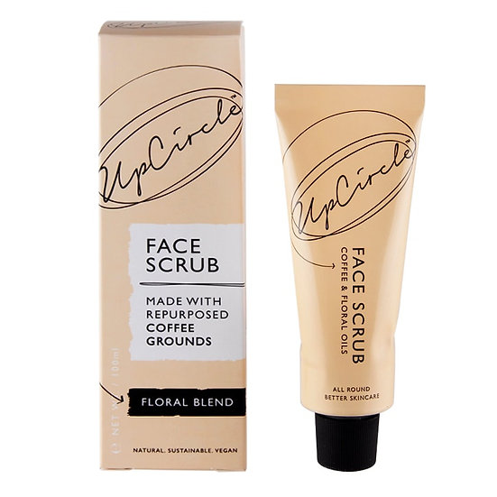 UpCircle Coffee Face Scrub - Floral Blend for Sensitive Skin