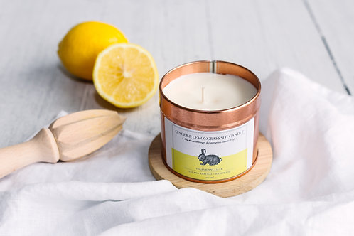 Vegan Bunny Ginger & Lemongrass Soy Candle