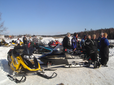 Snowmobile Enthusiast at Rivershack