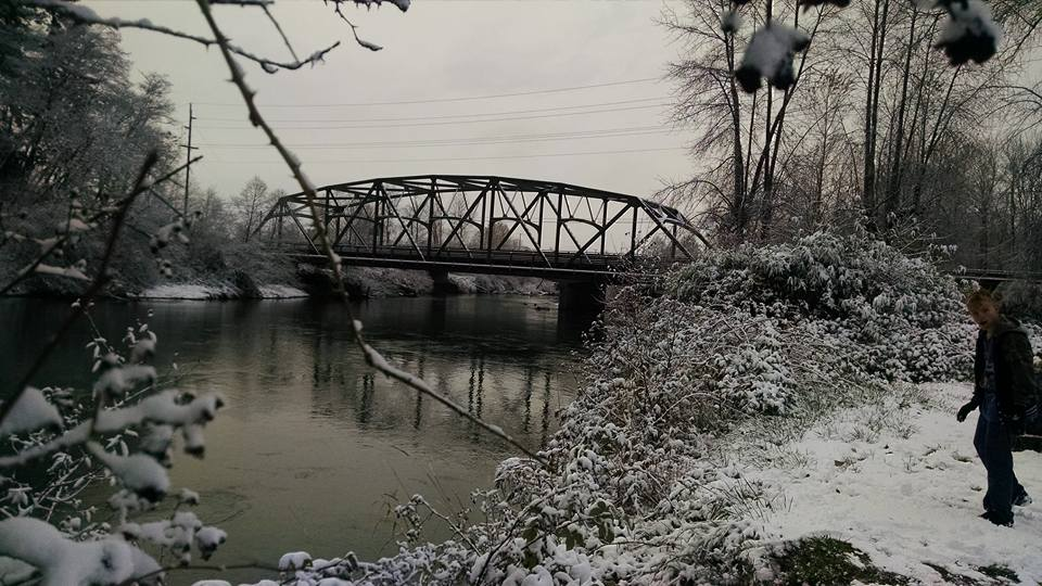 Kalama Bridge in Snow
