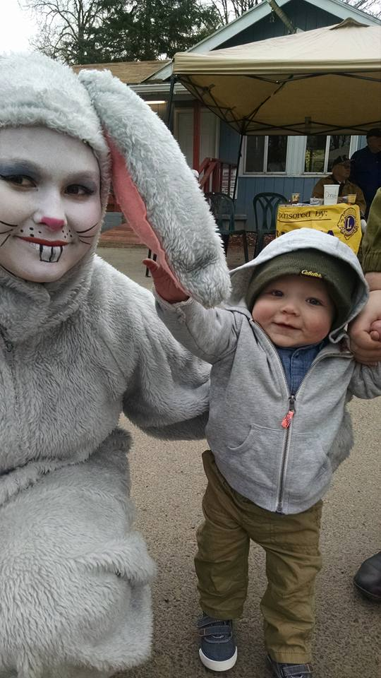 Easter Bunny at the Camp Ground