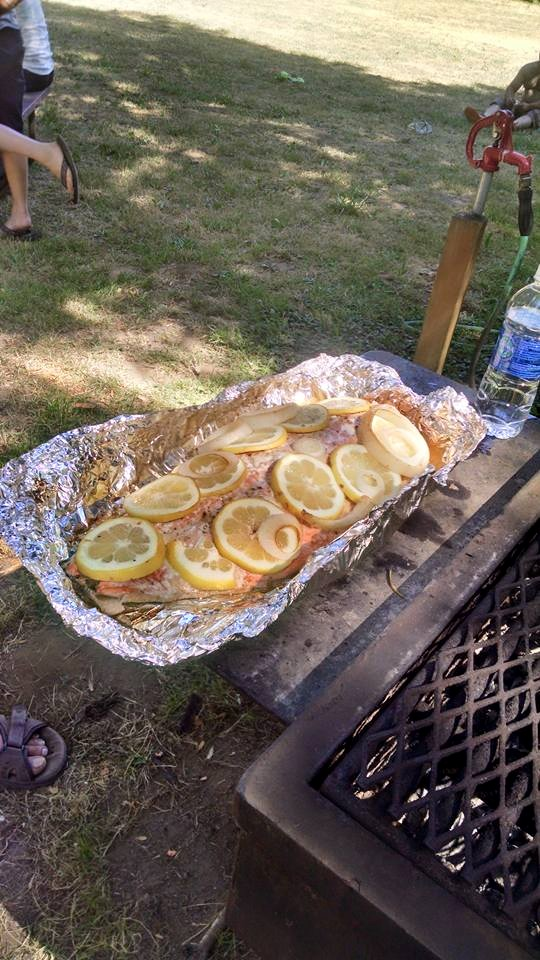 4th of July Grilled Salmon