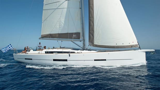 dufour_460_GL_sailing_greek_flag