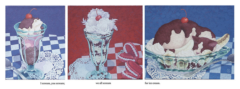 Ice Cream Trilogy (SOLD)