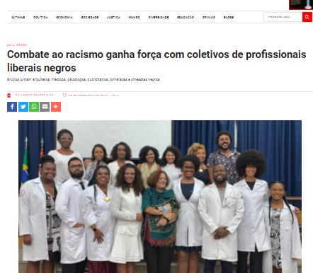 CARTA CAPITAL:  Combate ao racismo ganha força com coletivos de profissionais liberais negros