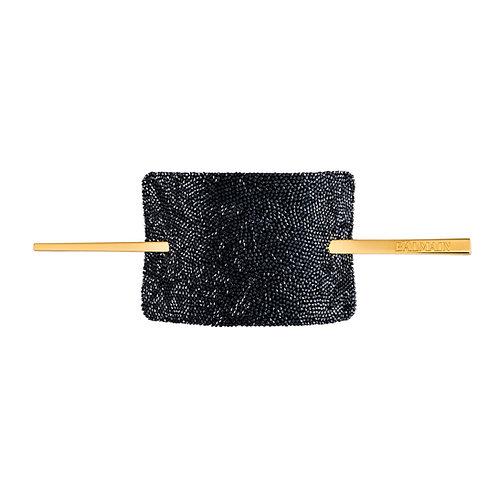 Limited Edition Crystal Black Hair Barrette FW19