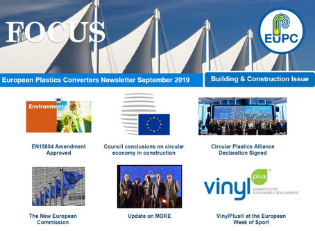 EuPC FOCUS, September 2019 - Building & Construction