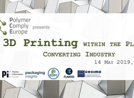 3D Printing within the Plastics Converting Industry - Speakers confirmed, register now!