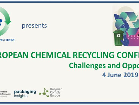 Demeto contributes to the EUROPEAN CHEMICAL RECYCLING CONFERENCE 2019