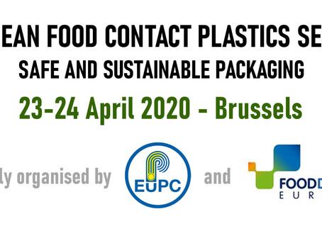 European Food Contact Plastics Seminar: Safe and Sustainable Packaging