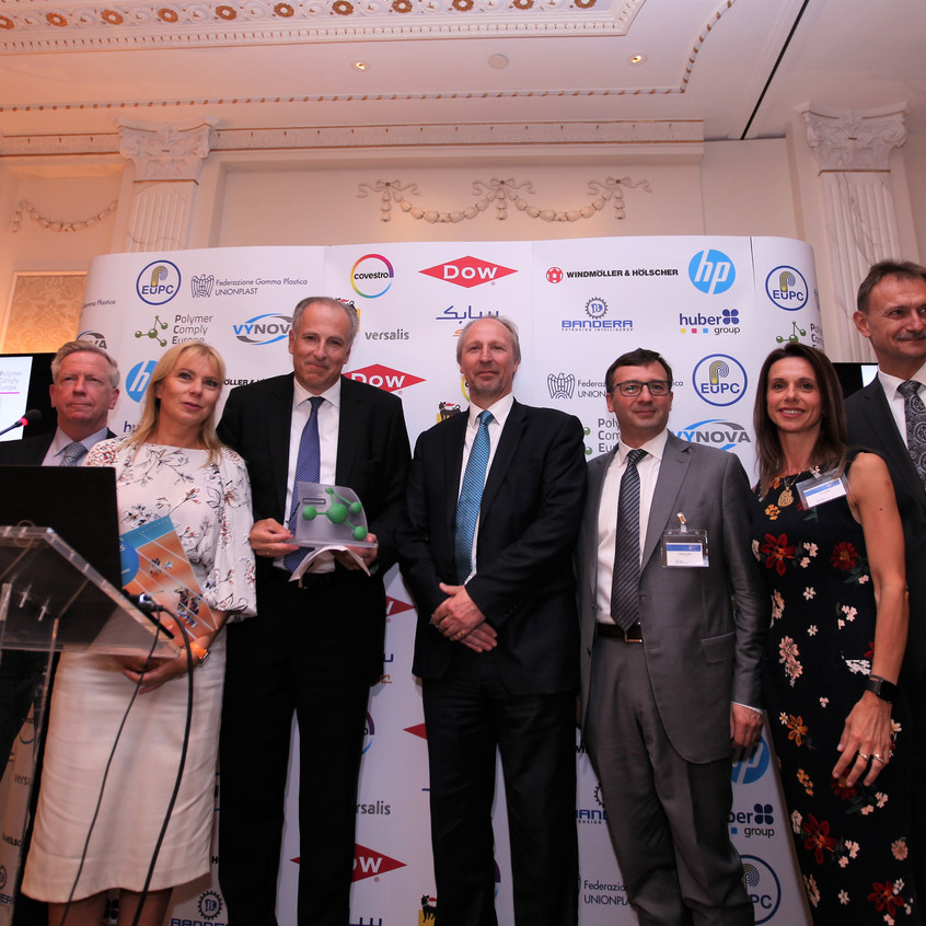 The Vynova Team at the Best Polymer Producers for Europe Awards Ceremony