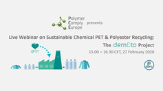 Webinar: Sustainable Chemical PET & Polyester Recycling: The DEMETO Project
