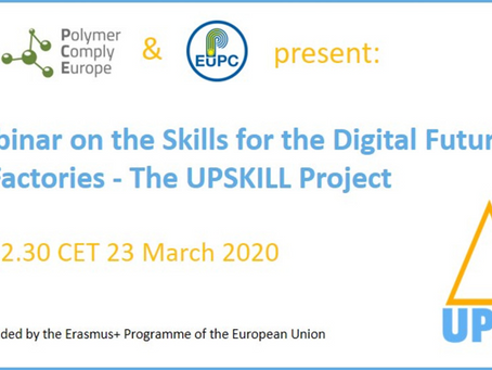 Live webinar on the Skills for the Digital Future of Plastic Factories - The UPSKILL Project