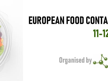 Final Programme Confirmed - European Food Contact Plastics Seminar 2019