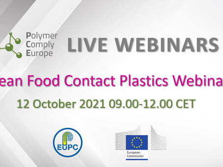 New speaker ! - European Food Contact Plastics Webinar 2021