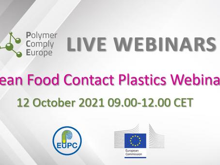 PCE Live Webinar on European Food Contact Plastics