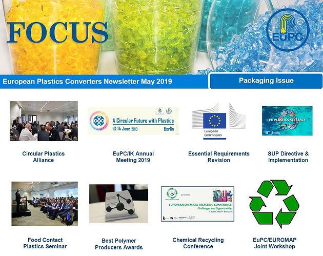 EuPC FOCUS, May 2019 - Packaging | European Plastics