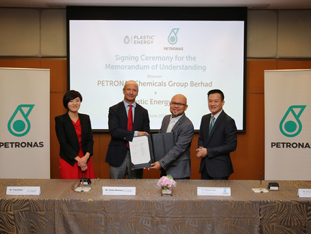 PETRONAS Chemicals Signs MoU With Plastic Energy