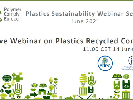 PCE Live Webinar on Plastics Recycled Content