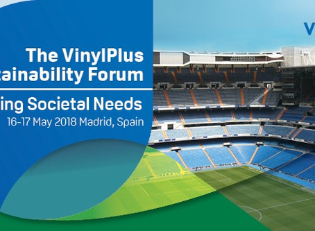 Join the VinylPlus® Sustainability Forum on 16 & 17 May 2018