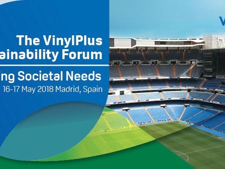 Join the VinylPlus® Sustainability Forum on 16 & 17 May 2018