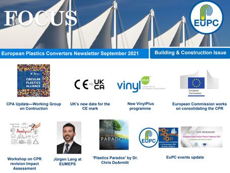 EuPC FOCUS, September 2021 - Building & Construction Issue