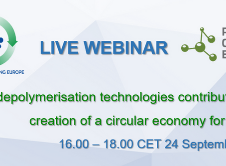 Chemical Recycling Europe Conference Postponed - Webinars Organised in Autumn